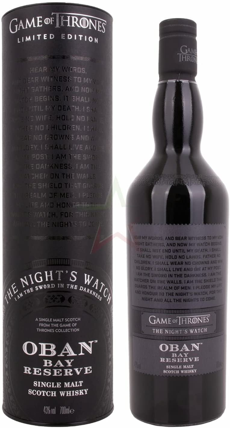 """""""Bay Reserve"""" Night Game Of Thrones Limited Edition Whisky Oban-31"""